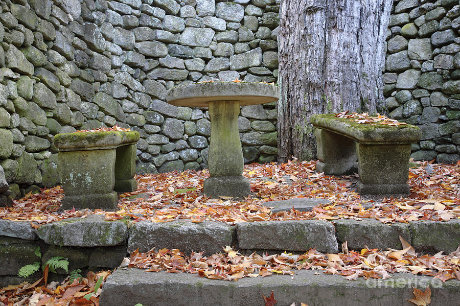 Stone Wall Photograph - The Fells Historic Estate In Newbury Nh Usa by Erin Paul Donovan