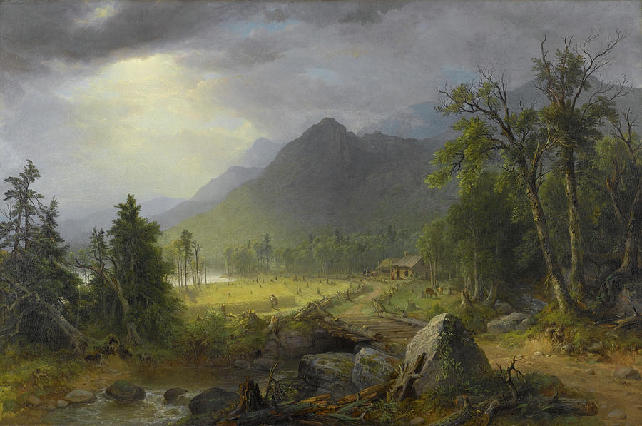 The First Harvest In The Wilderness Painting By Asher Brown Durand