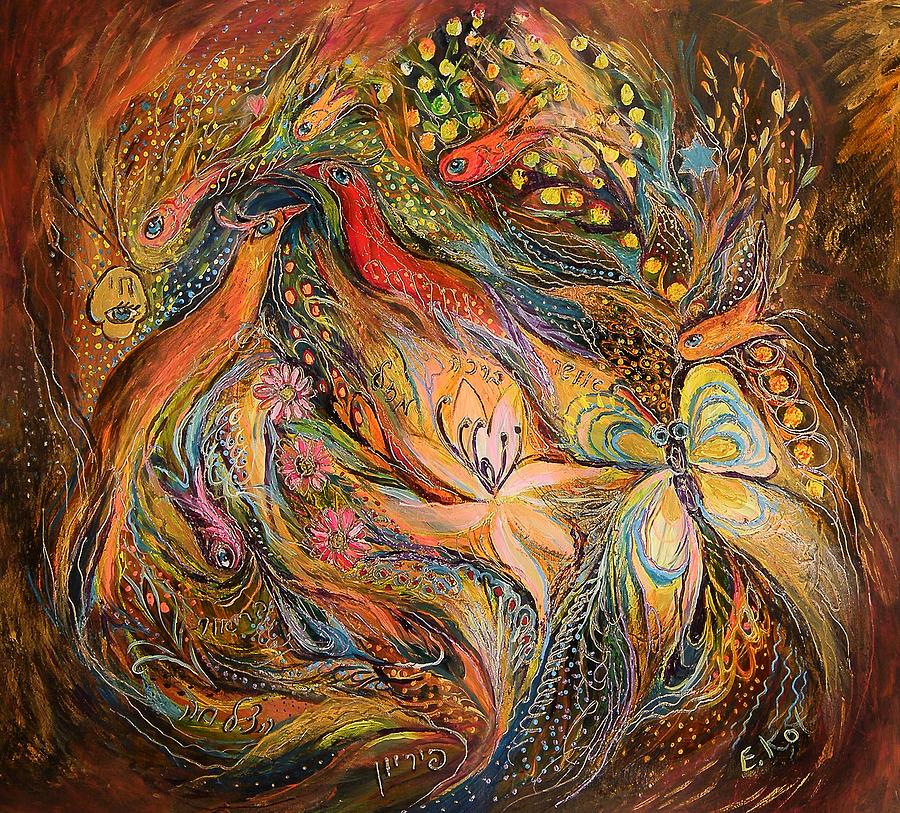 Original Painting - The Fluids Of Love by Elena Kotliarker