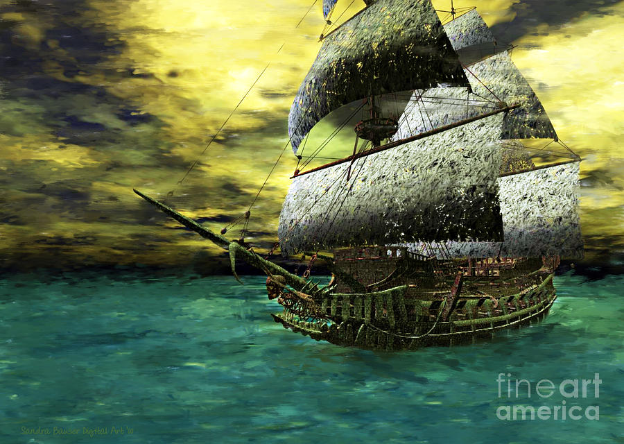 Digital Painting - The Flying Dutchman by Sandra Bauser Digital Art