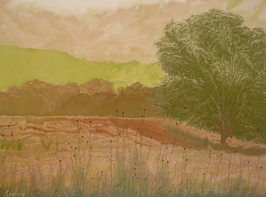 Landscape Pastel - The Fog Bank by Harvey Rogosin