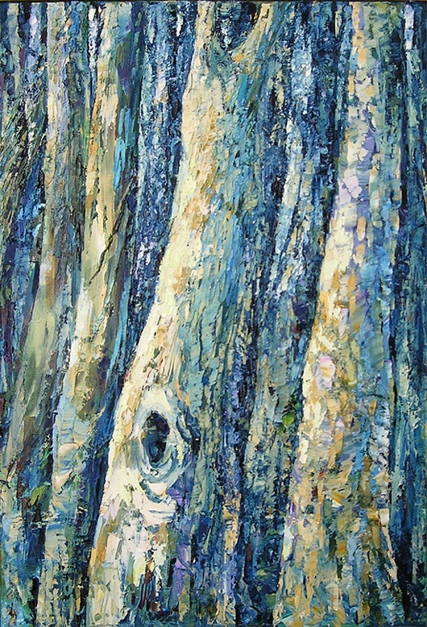 Nature Painting - The Forest Trees by Keren Gorzhaltsan
