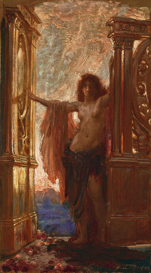 Herbert James Draper Painting - The Gates Of Dawn by Herbert James Draper