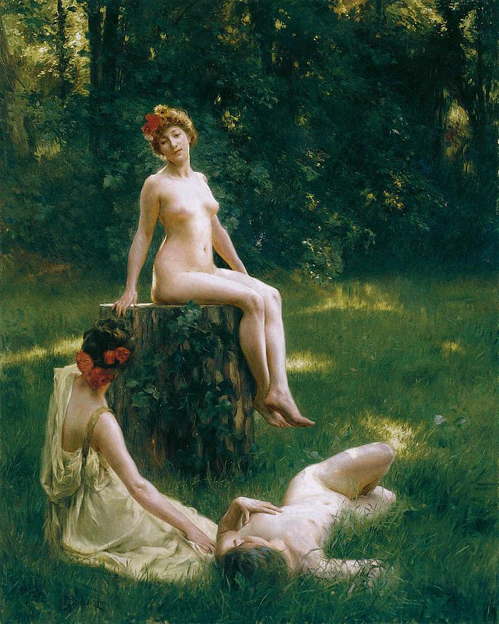 Women Painting - The Glade by Julius LeBlanc Stewart