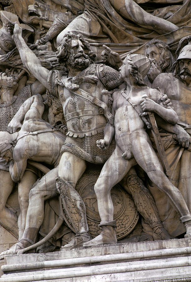 Heroic Sculpture - The Glory That Was France by Carl Purcell