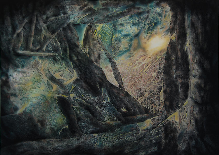 Forest Painting - The Glow Will Guide Me by Shirley McMahon