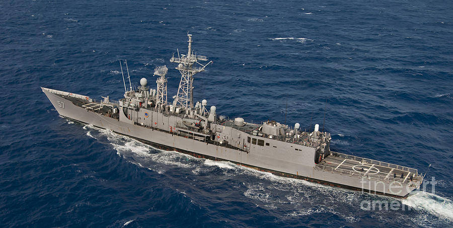 Military Photograph - The Guided-missile Frigate Uss Reuben by Stocktrek Images