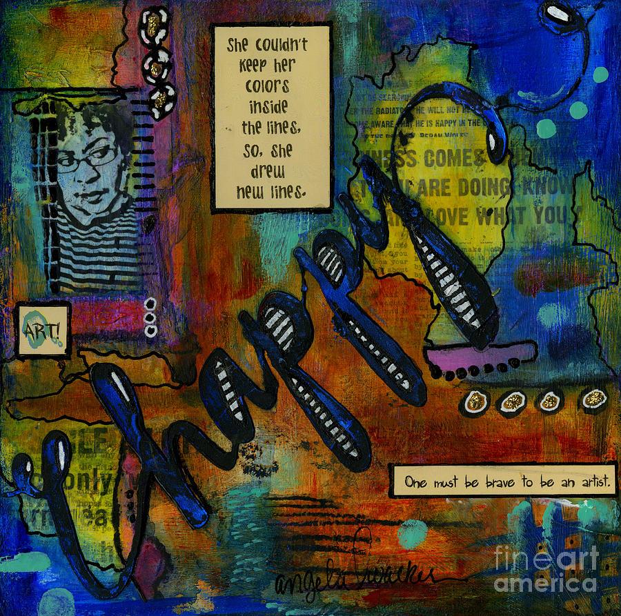 Acrylic Mixed Media - The HAPPY Artist by Angela L Walker