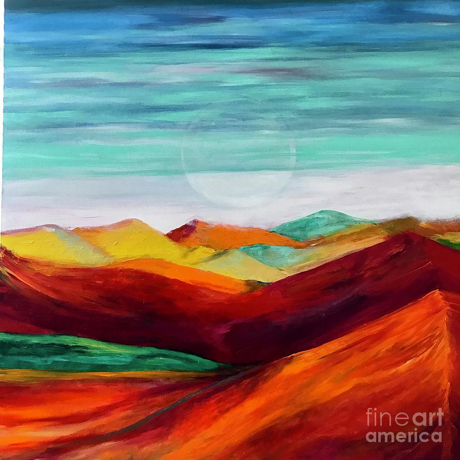 Bright Painting - The Hills Are Alive by Kim Nelson
