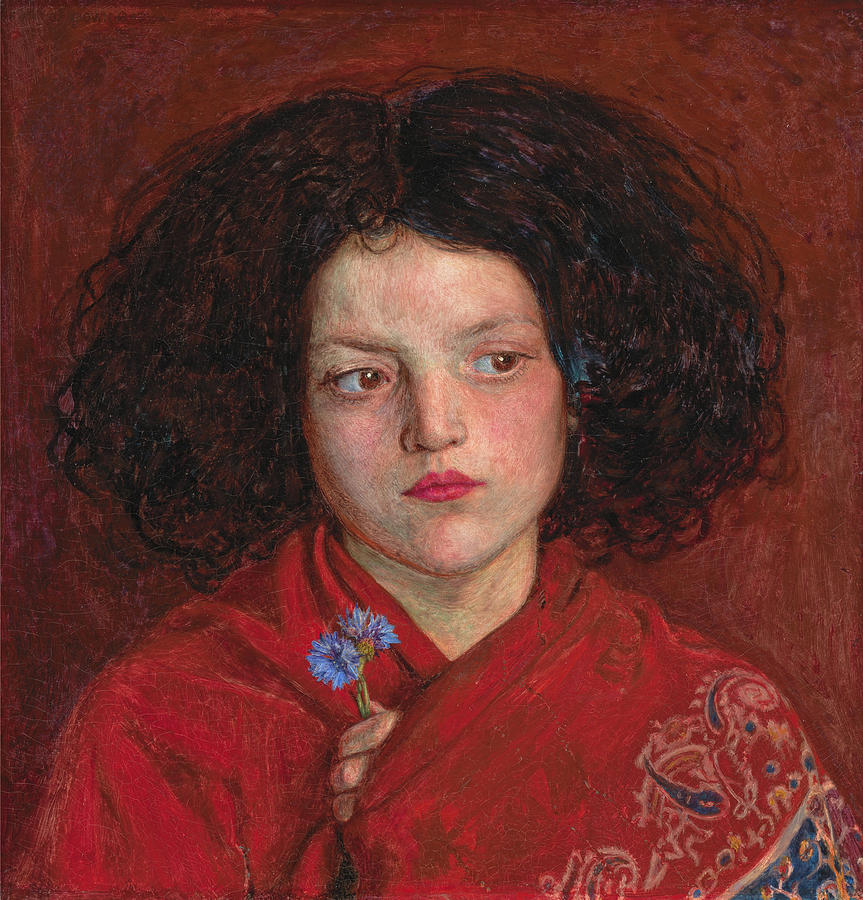 English Painters Painting - The Irish Girl by Ford Madox Brown