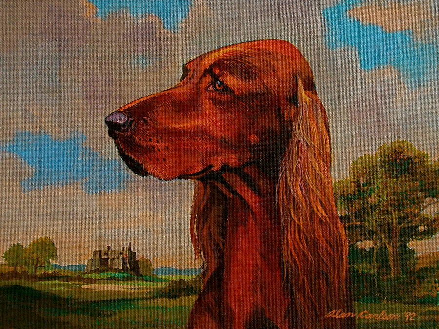 Irish Painting - The Irish Setter by Alan Carlson