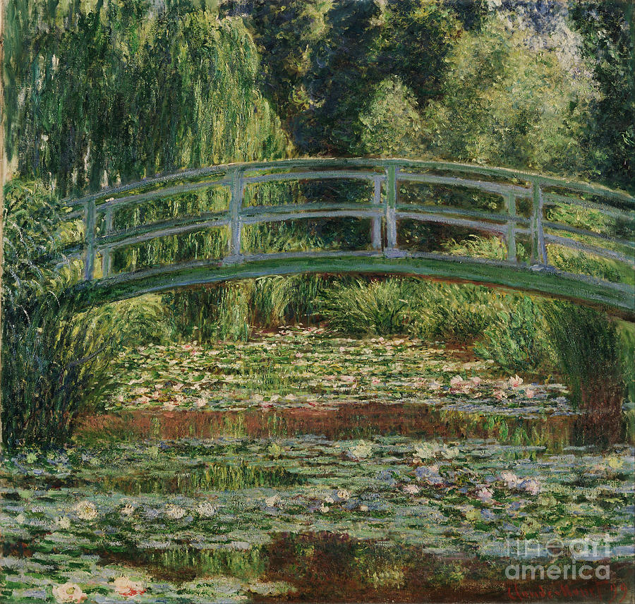 Claude Painting - The Japanese Footbridge And The Water Lily Pool Giverny by Claude Monet