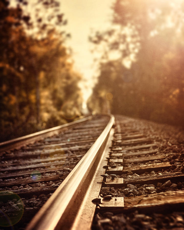 Railroad Photograph - The Journey by Lisa Russo