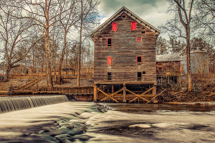 Covered Bridge Photograph - The Kymulga Mill by Phillip Burrow