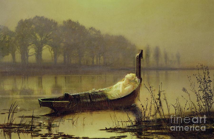 Atkinson Grimshaw Painting - The Lady Of Shalott by John Atkinson Grimshaw