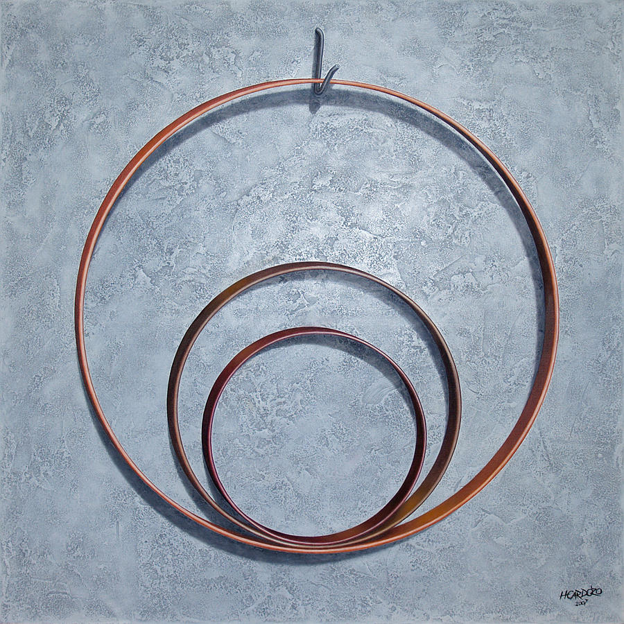 Hoop Painting - The Legacy by Horacio Cardozo