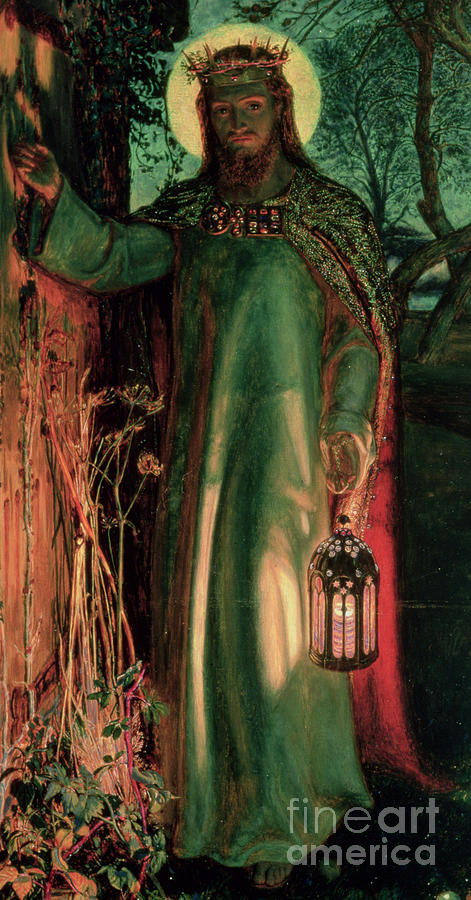 The Light Of The World Painting By William Holman Hunt