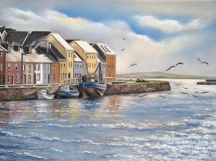 Long Walk Pastel - The Long Walk Galway by Vanda Luddy