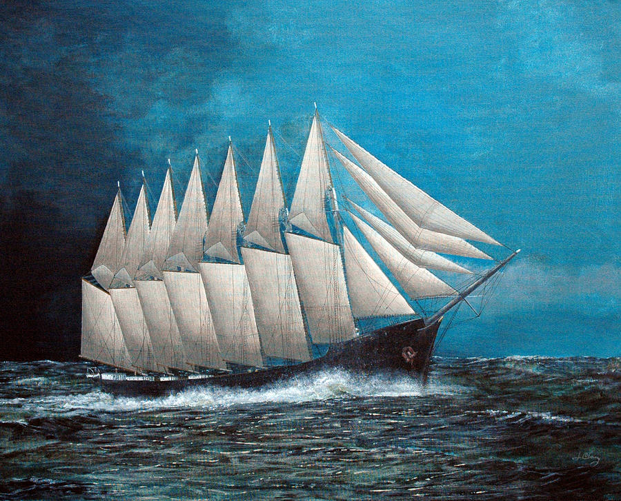 The Lucky Seven - Thomas W. Lawson Painting by Jim Clary