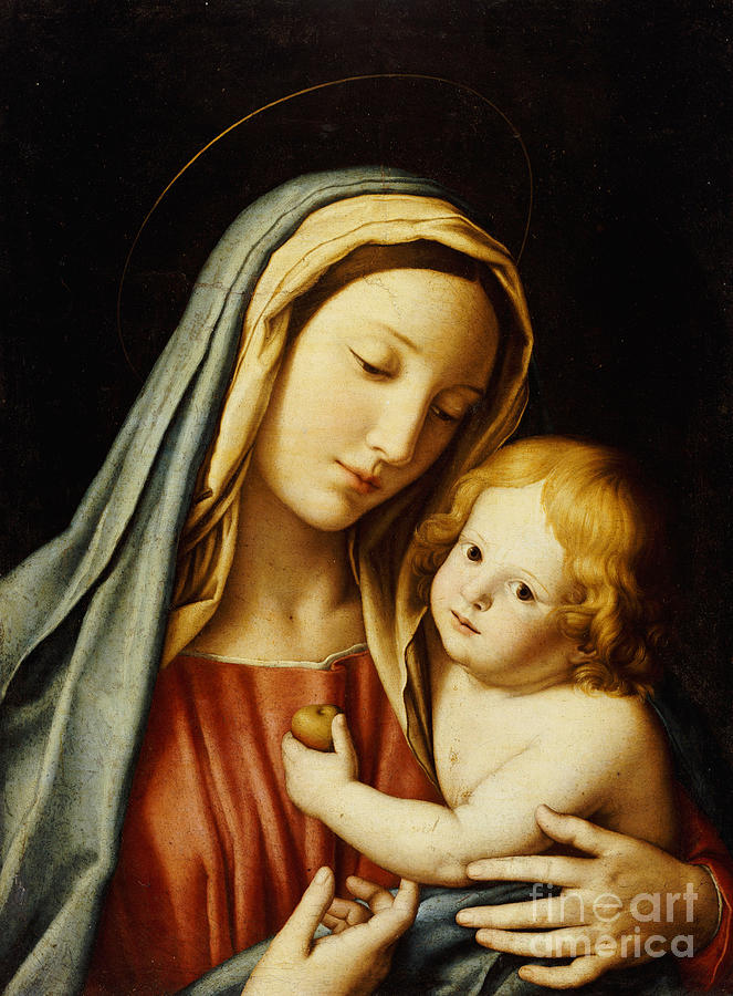 Mary Painting - The Madonna And Child by Il Sassoferrato