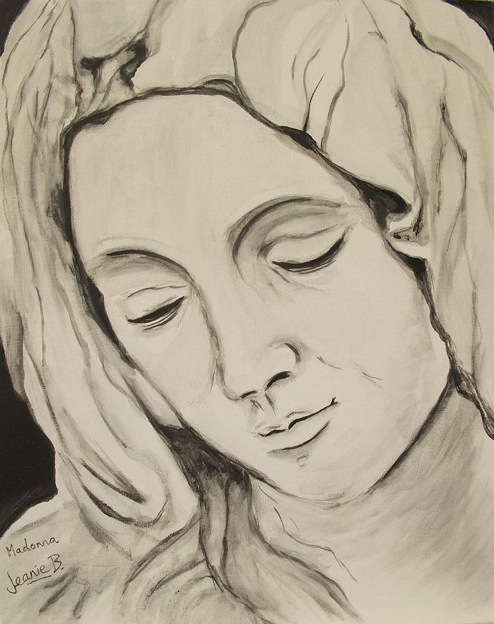 Religious Painting - The Madonna by Jean Billsdon