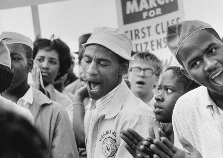 Photo Photograph - The March On Washington  A Group From Detroit by Nat Herz