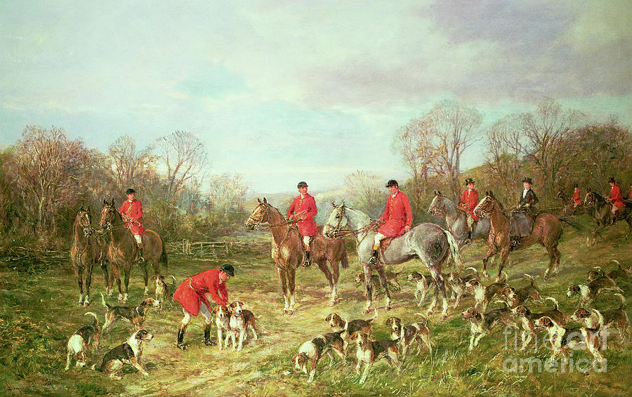 Victorian Painting - The Meet by Heywood Hardy