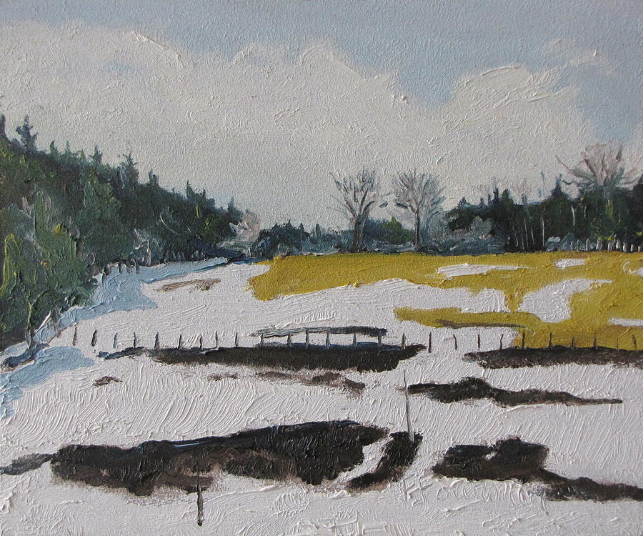 Landscape Painting - The Melting Snow by Francois Fournier