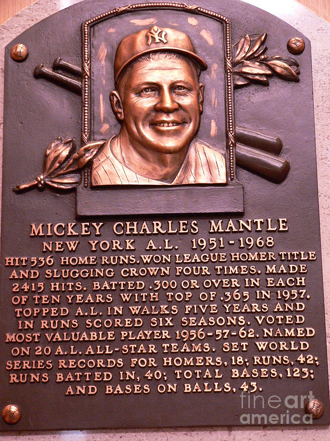 Mickey Mantle Photograph - The Mick by David Bearden