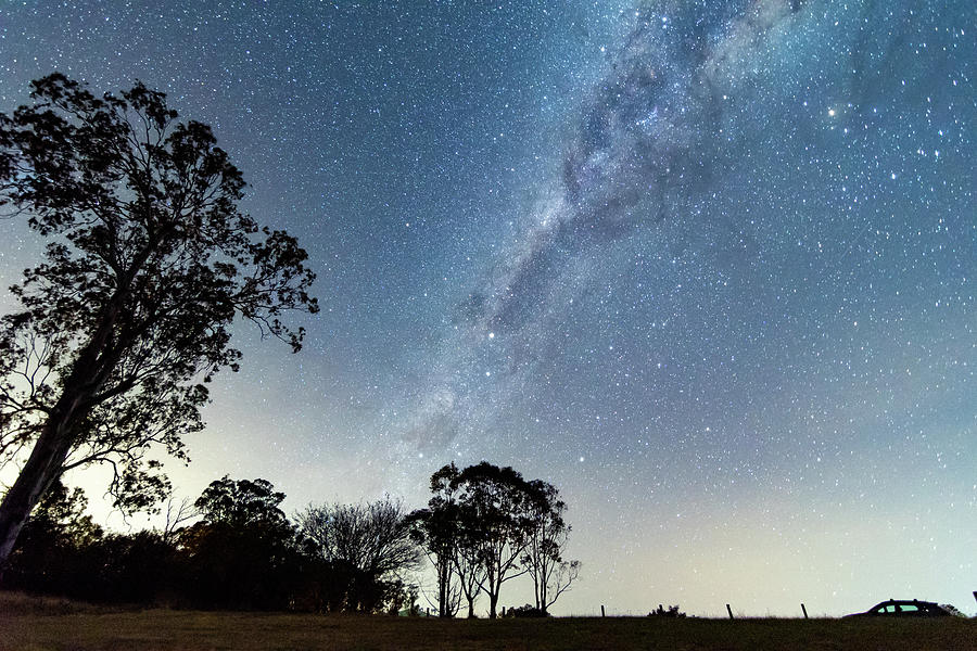 The Milky Way And Country Landscape Photograph