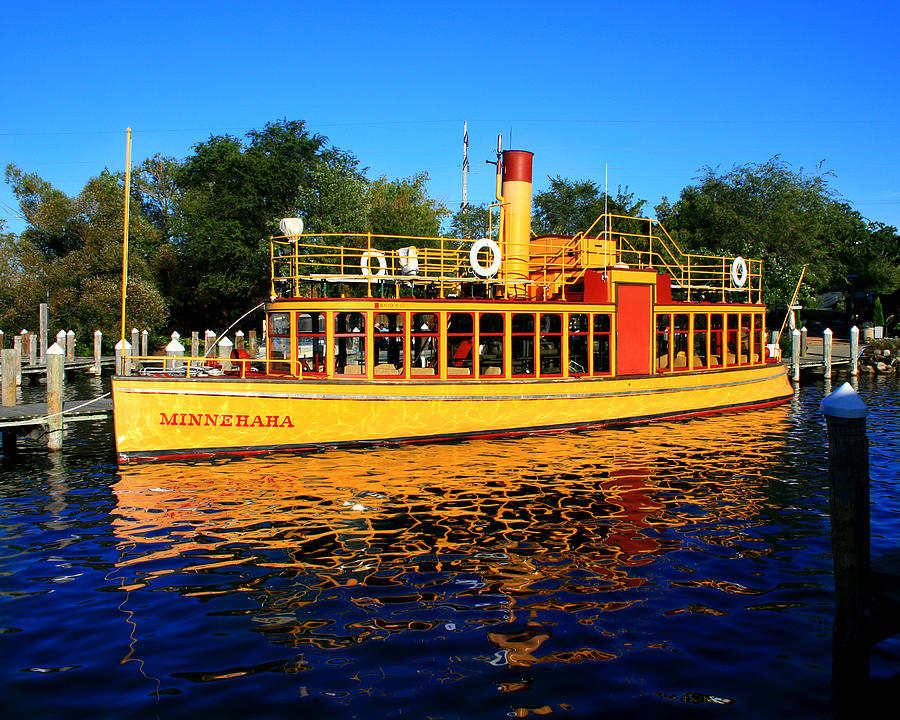 Boat Photograph - The Minnehaha by Perry Webster