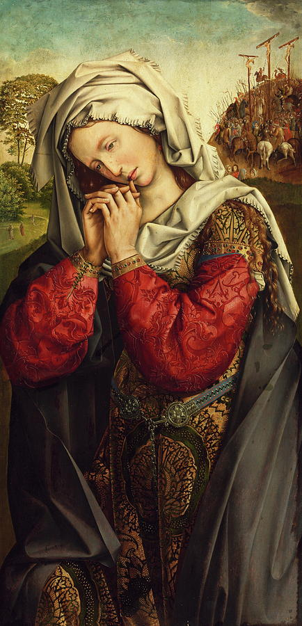 The Mourning Mary Magdalene Painting by Colijn de Coter