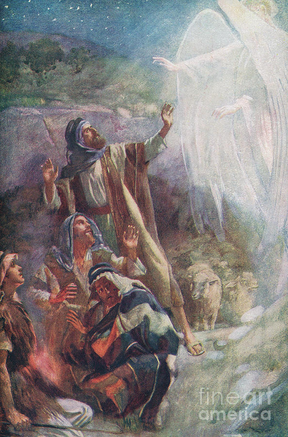 Angel Painting - The Nativity by Harold Copping