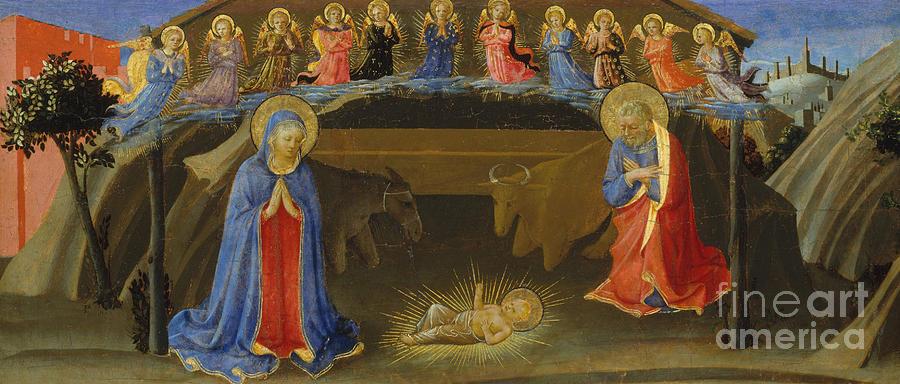 Nativity Painting - The Nativity by Zanobi Strozzi