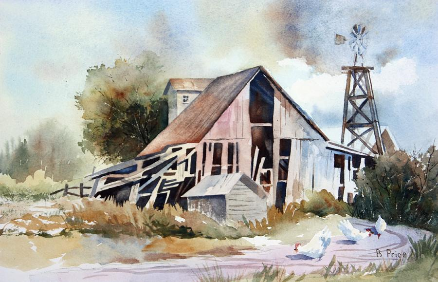 Artwork Painting - The Old Barn by Bobbi Price