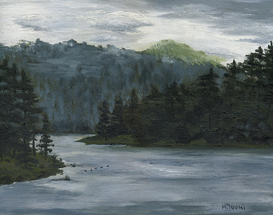 Blackhills Painting - The Overlook by Mary Tuomi