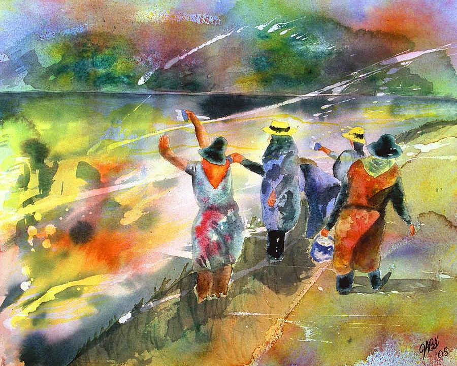 Watercolor Painting - The Painters by Joyce Ann Burton-Sousa
