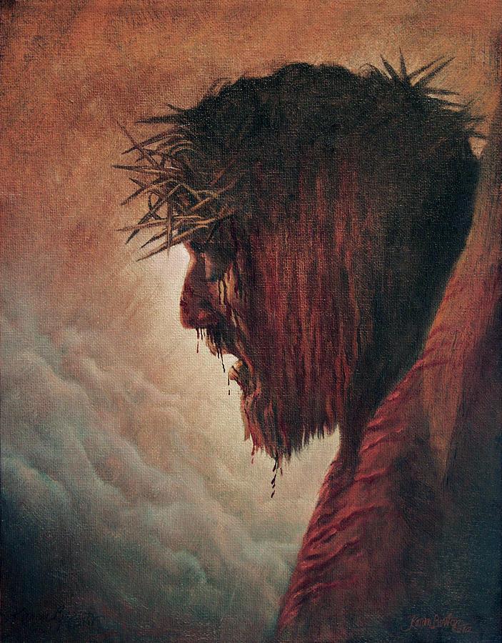 Jesus Painting - The Passion by Artist Karen Barton