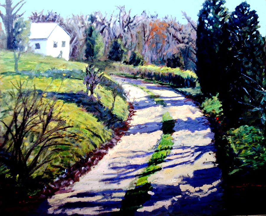 The Path To Huntley Painting by David Zimmerman