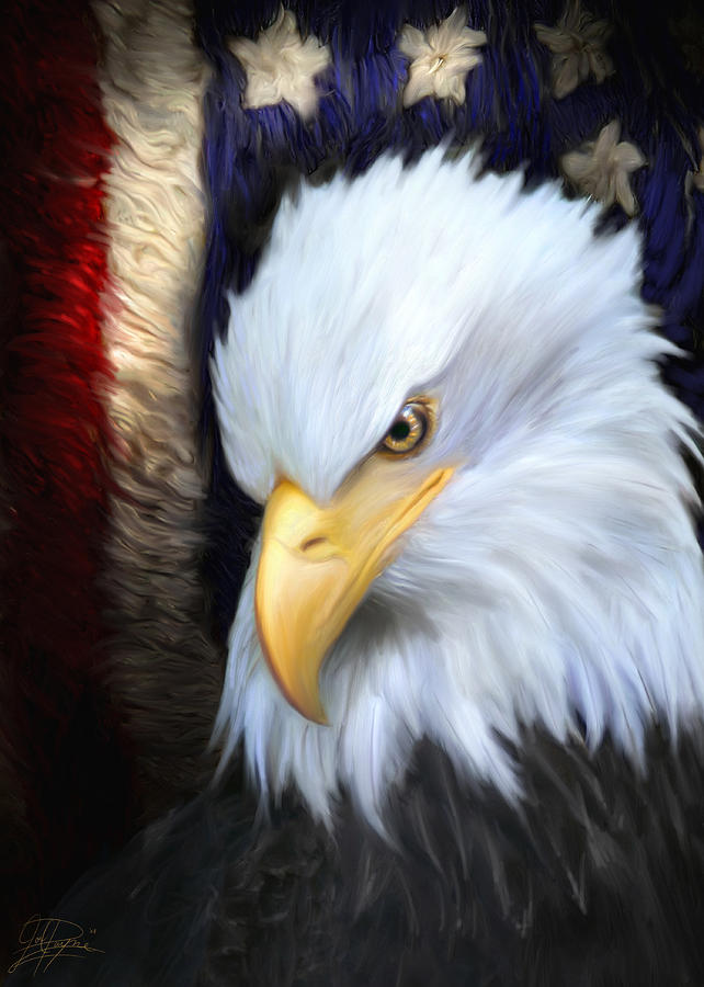 Eagle Painting - The Patriot by Joel Payne