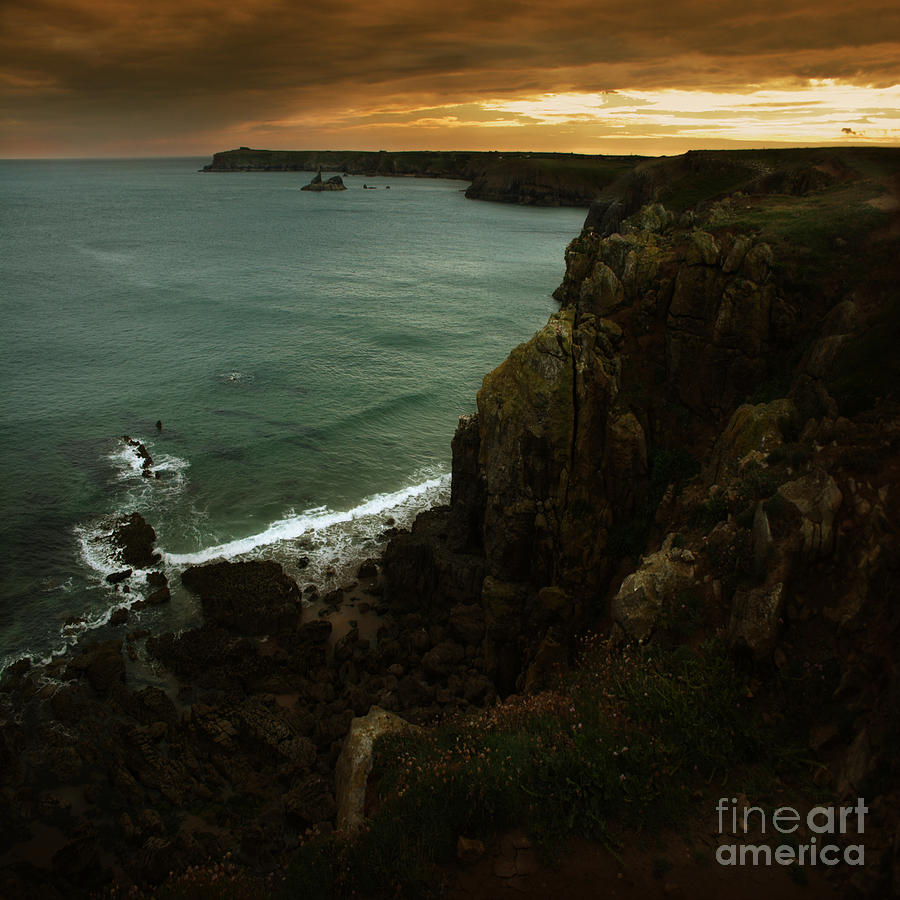 Cliff Photograph - The Pembrokeshire Cliffs by Angel Ciesniarska