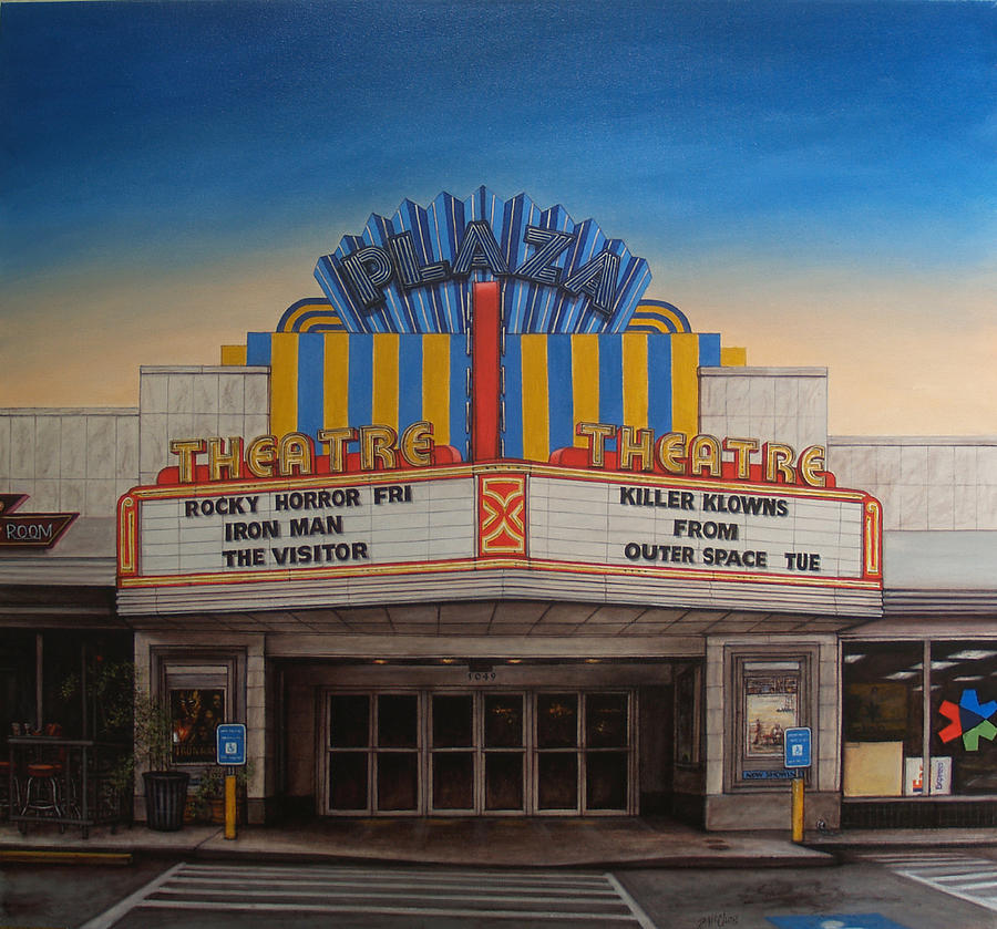 Plaza Painting - The Plaza by Rick McClung
