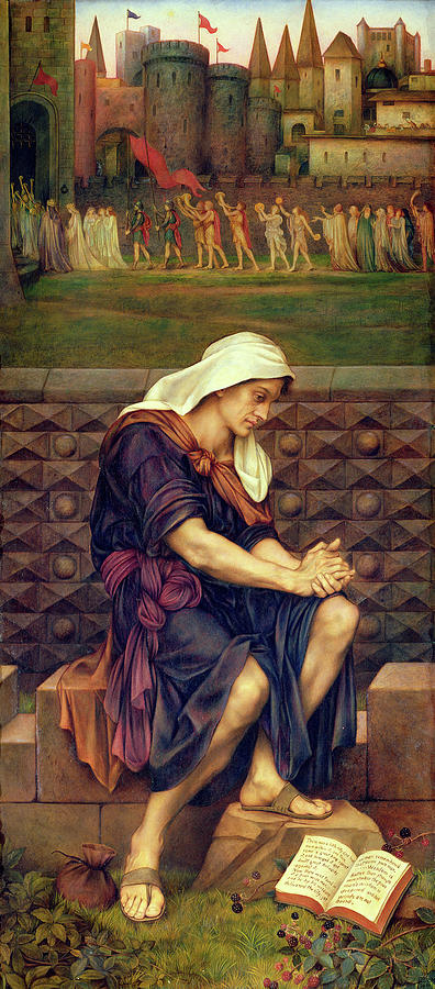Evelyn De Morgan Painting - The Poor Man Who Saved The City 1 by Evelyn De Morgan