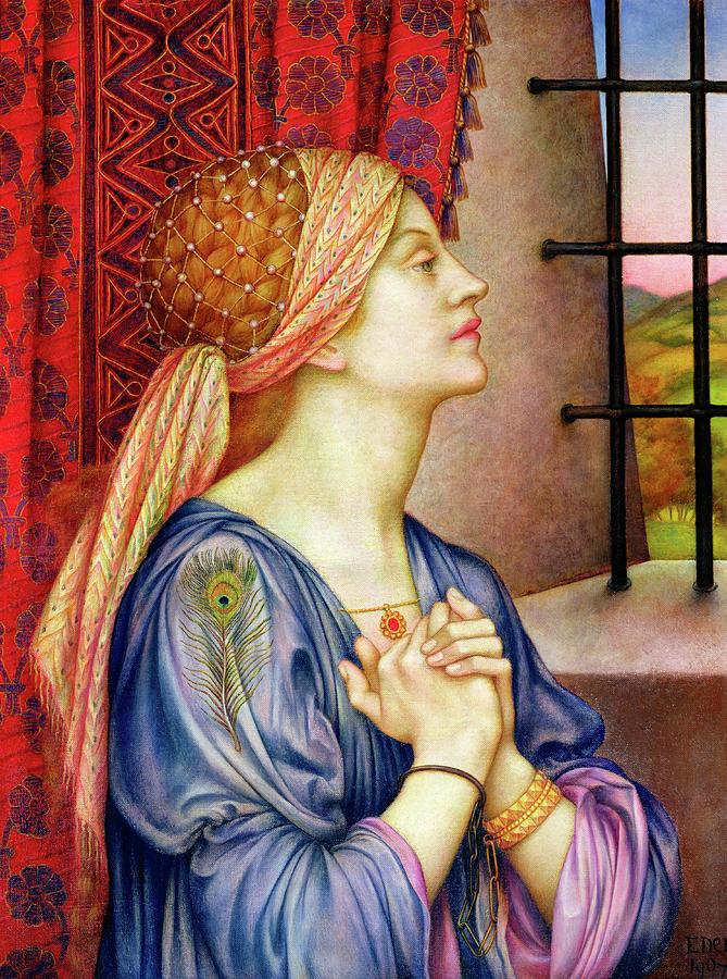Evelyn De Morgan Painting - The Prisoner by Evelyn De Morgan