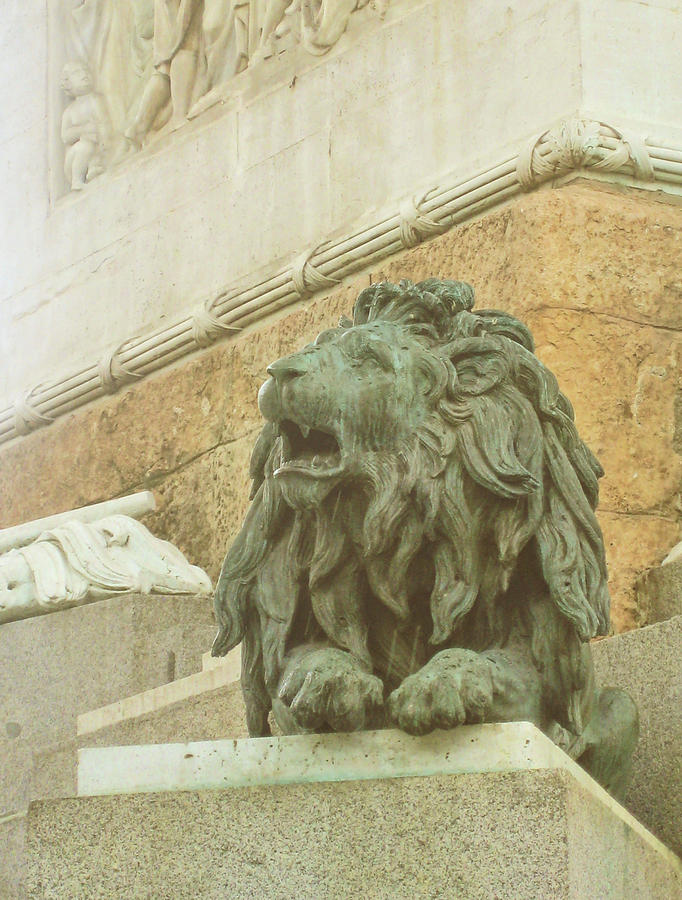 Lion Photograph - The Queens Lion by JAMART Photography