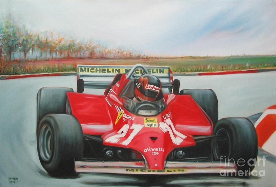 Race Painting - The Racing Car by Sukalya Chearanantana