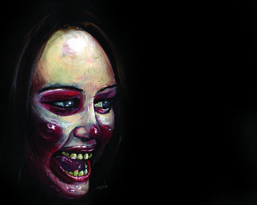 Portrait Painting - The Real Hannah Montana by Matt Truiano