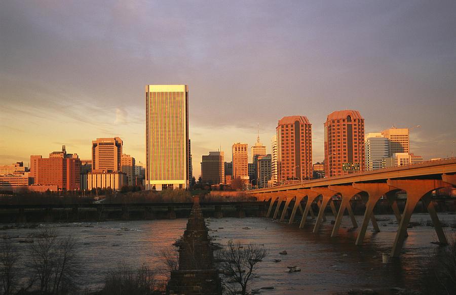 North America Photograph - The Richmond, Virginia Skyline by Medford Taylor
