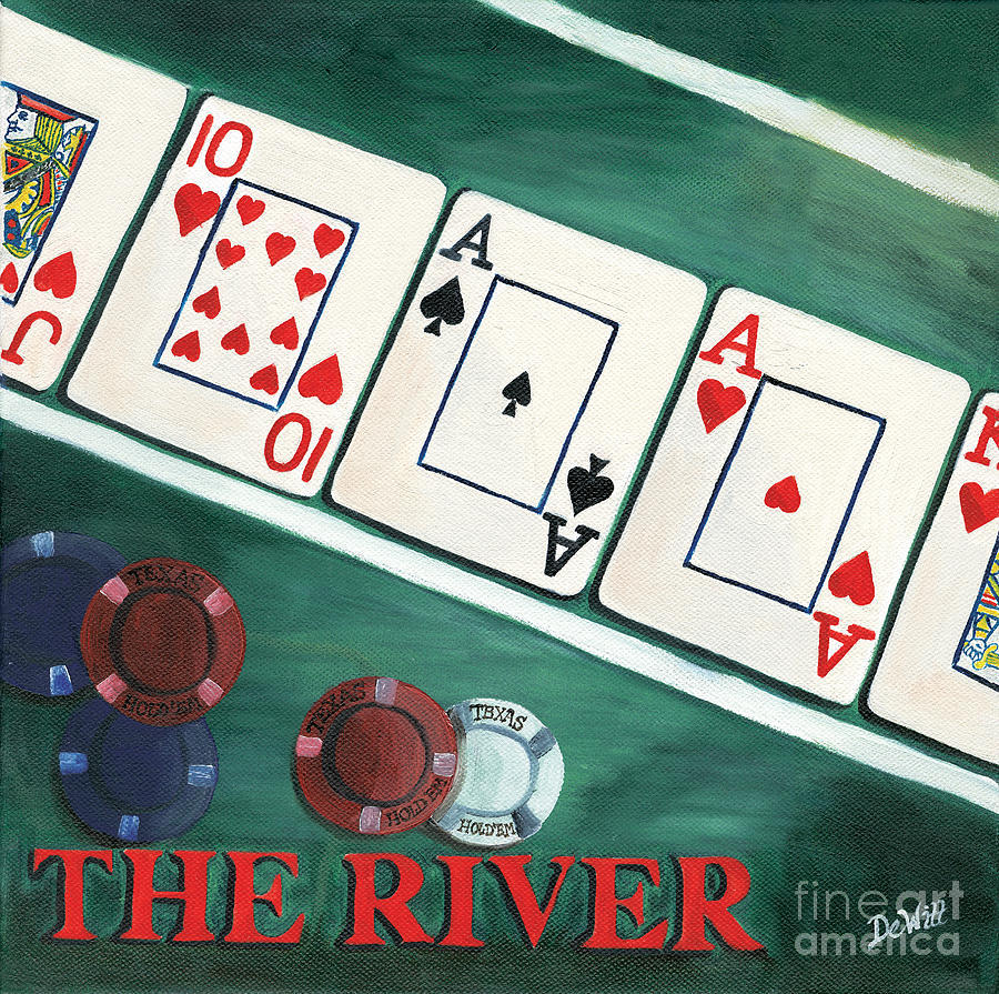 The River Painting - The River by Debbie DeWitt