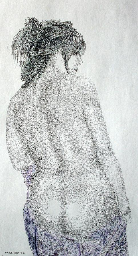 Female Nude Painting - The Robe by Tony Ruggiero